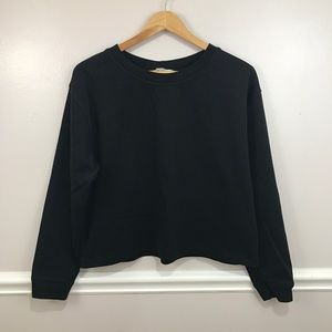 ZARA BASIC BOXY BLACK SWEATER LARGE
